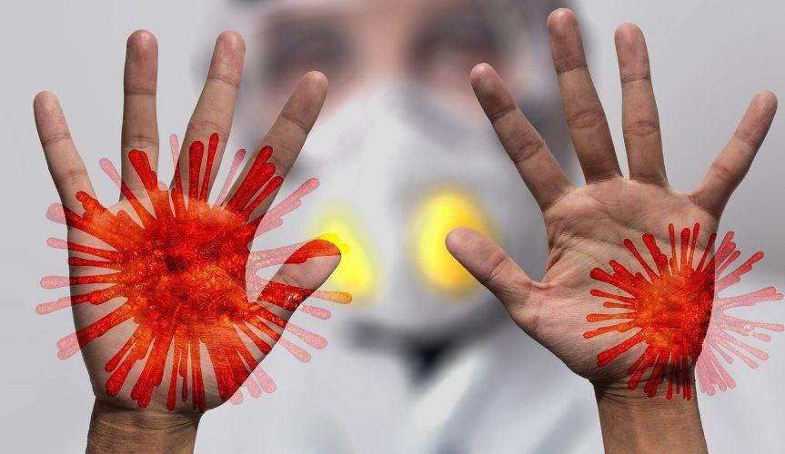 Tvätta händerna håller virus borta.
